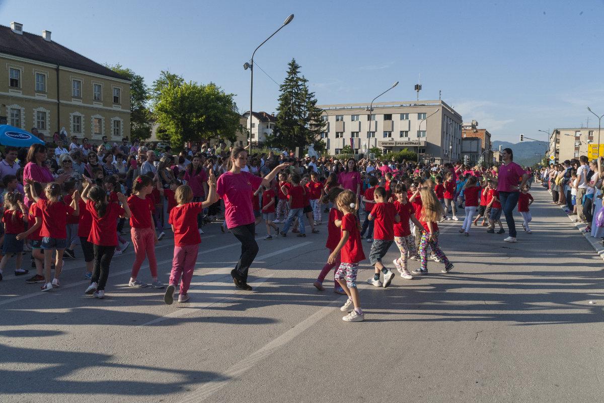 Дечија приредба у центру Горњег Милановца