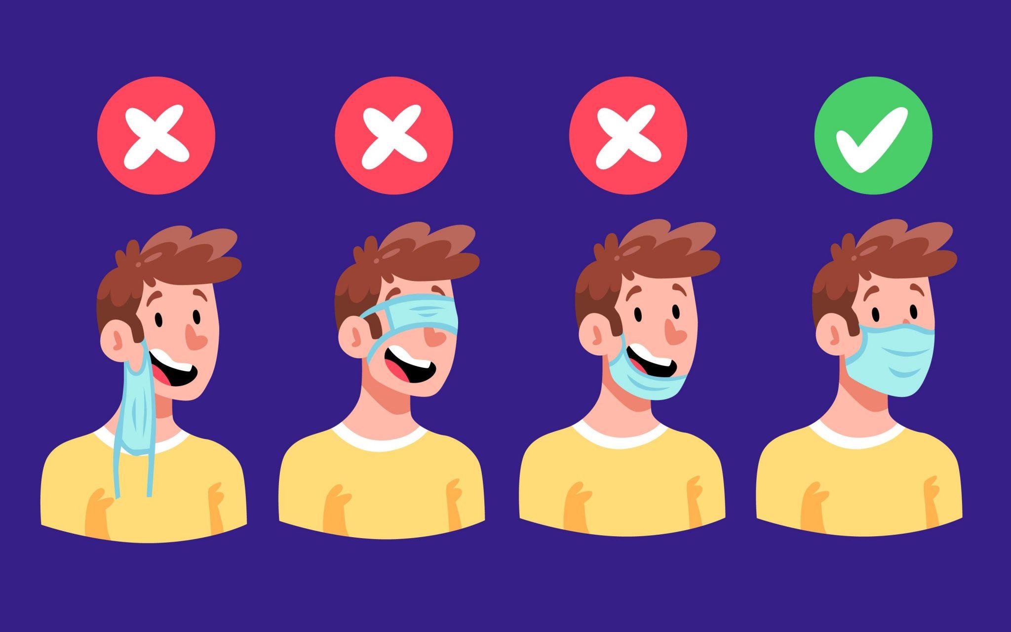 Kako nositi masku protiv virusa